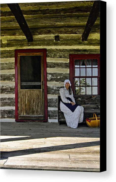 Grey Roots Museum & Archives Canvas Print featuring the photograph Canadian Gothic by Steve Harrington