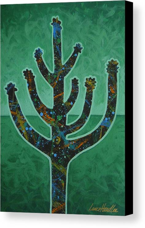 Cactus Canvas Print featuring the painting Desert Green by Lance Headlee