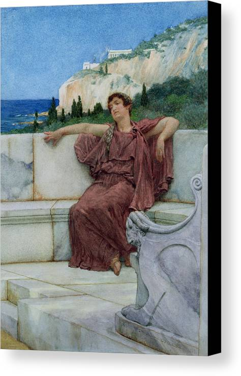 Dolce Canvas Print featuring the painting Dolce Far Niente by Sir Lawrence Alma-Tadema