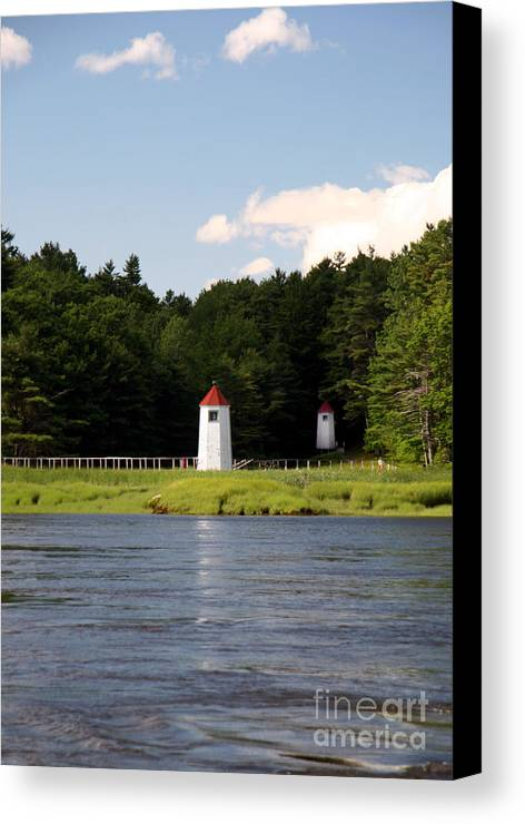 Double Range Light Canvas Print featuring the photograph Double Range Light by Brenda Giasson