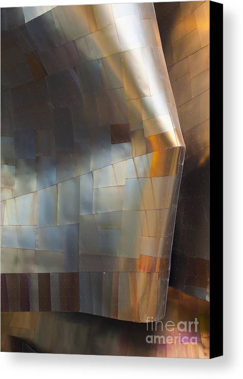 Emp Canvas Print featuring the photograph Emp Abstract Fold by Chris Dutton