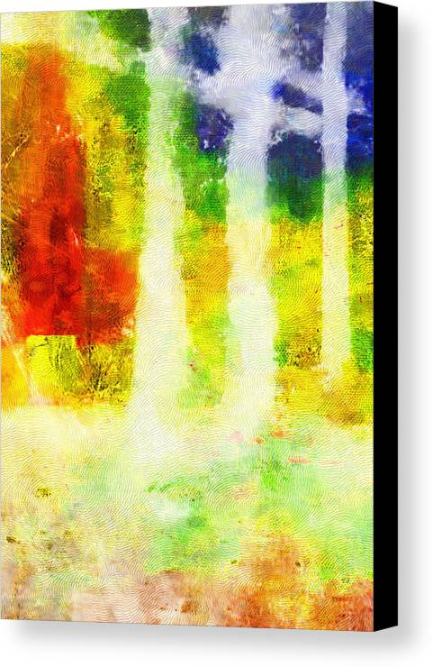 Abstract Canvas Print featuring the digital art Fall Woods by Scott Smith