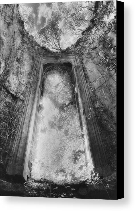 Irish Architecture; Ruin; Ruins; Remains; Imposing; Derelict; Dramatic Canvas Print featuring the photograph Gothic Window by Simon Marsden