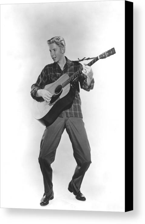 1950s Portraits Canvas Print featuring the photograph Jimmy Boyd, Ca. 1958 by Everett