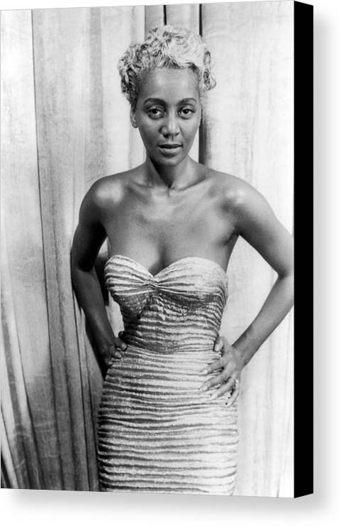 1953 Canvas Print featuring the photograph Joyce Bryant, 1953 by Granger