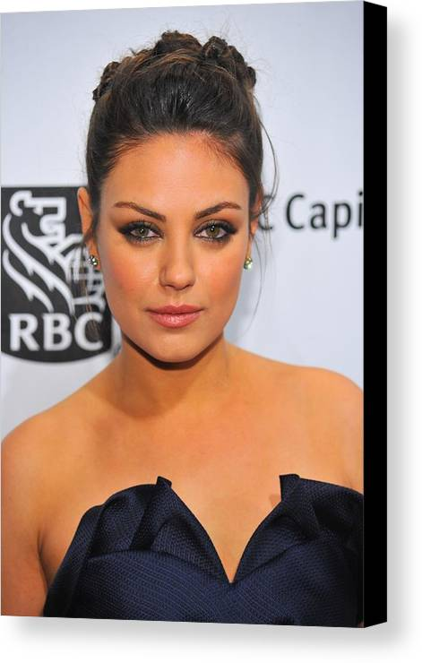 Mila Kunis Canvas Print featuring the photograph Mila Kunis At Arrivals For Ifps 20th by Everett