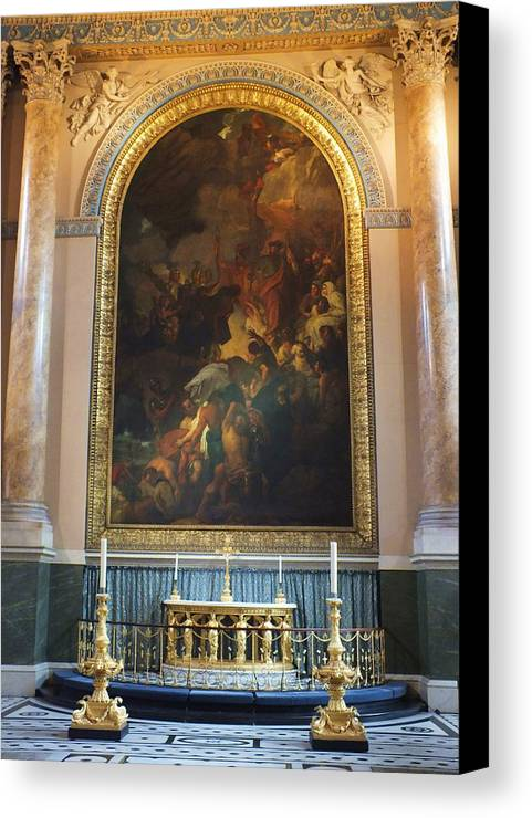 Royal Naval Chapel Canvas Print featuring the photograph Royal Naval Chapel Interior by Anna Villarreal Garbis
