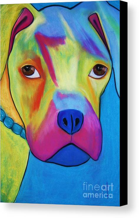 Dog Canvas Print featuring the painting Sonny Blu by Melinda Etzold