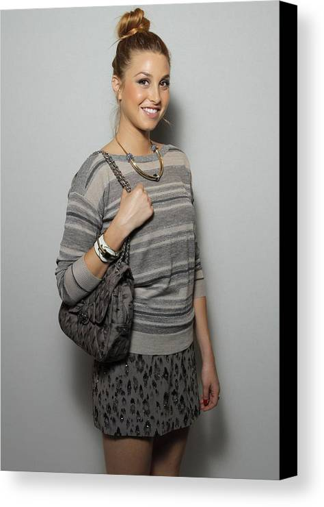 Whitney Port Canvas Print featuring the photograph Whitney Port In Attendance For Rebecca by Everett