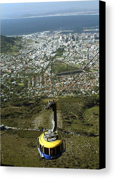 Capetown Canvas Print featuring the photograph Capetown Cablecar by Charles Ridgway