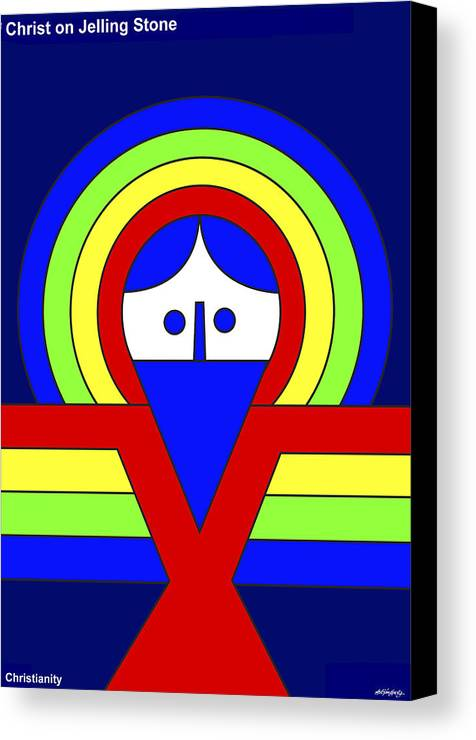 Christ Canvas Print featuring the painting Christ by Asbjorn Lonvig