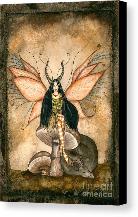Faery Canvas Print featuring the painting Earth Faery by Alysa Fioretzi