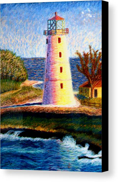 Lighthouse Canvas Print featuring the painting Lighthouse by Stan Hamilton