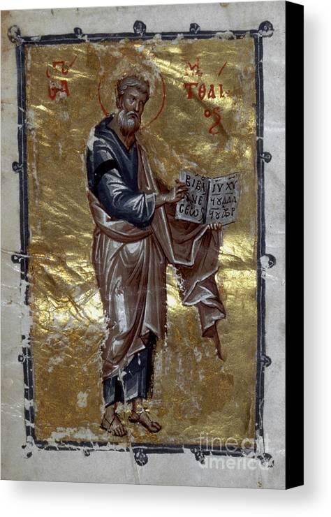 13th Century Canvas Print featuring the painting Saint Matthew by Granger