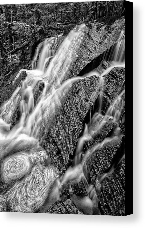 Waterfall Canvas Print featuring the photograph Spring Cascades #3 by Irwin Barrett