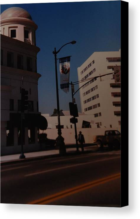 Hollywood California Canvas Print featuring the photograph 75th Hollywood by Rob Hans