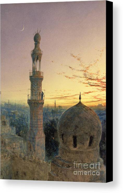 Call Canvas Print featuring the painting A Call To Prayer by Henry Stanier