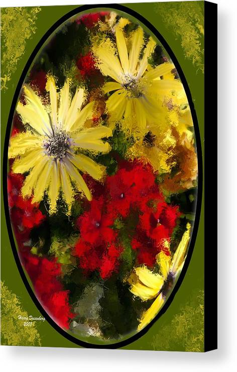 Flowers Canvas Print featuring the painting Abstract Flowers 2 by Harry Dusenberg