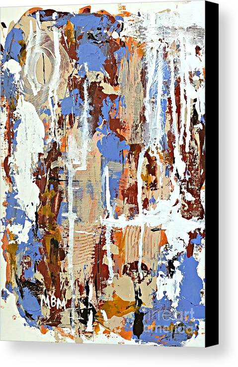 Abstract Art Canvas Print featuring the painting Another Rainy Day by Mary Mirabal