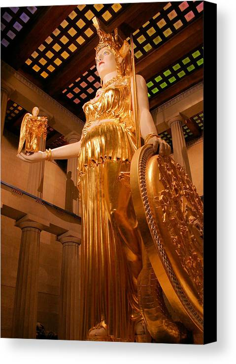 Athena Canvas Print featuring the photograph Athena With Nike by Kristin Elmquist