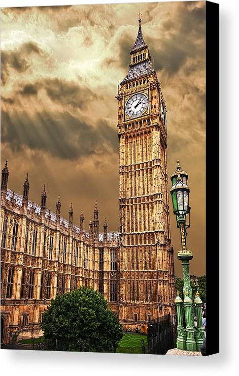 Big Ben Canvas Print featuring the photograph Big Ben's House by Meirion Matthias