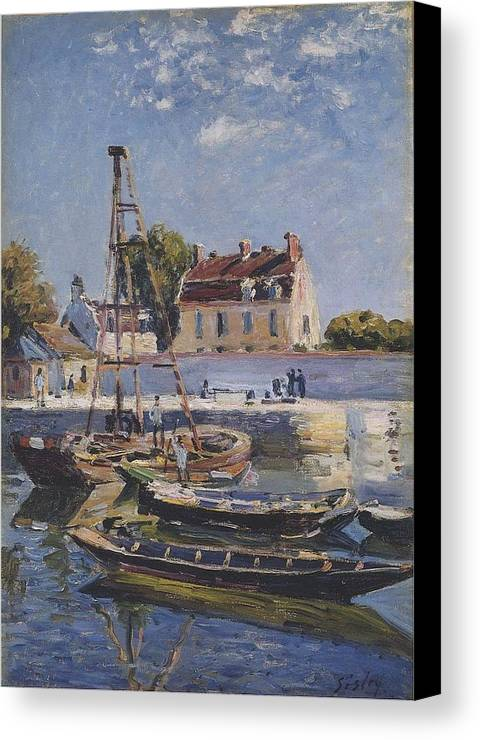Boats Canvas Print featuring the painting Boats by MotionAge Designs