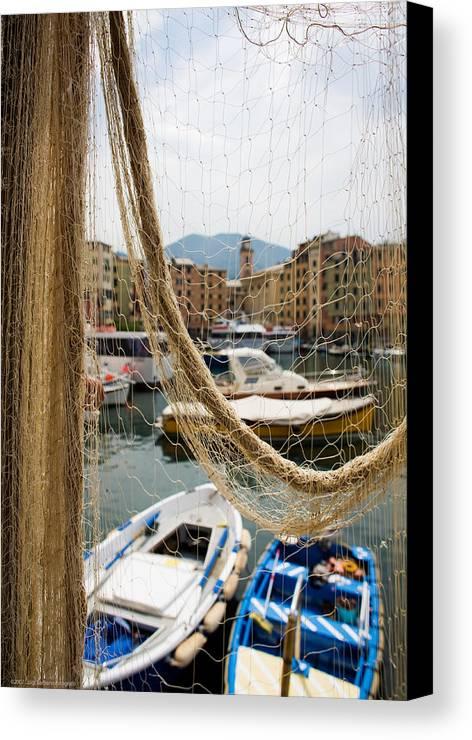 Italy Canvas Print featuring the photograph Camogli 1 by Luigi Barbano BARBANO LLC
