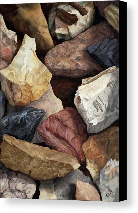 Stones Canvas Print featuring the painting Commonstone Too by Craig Gallaway