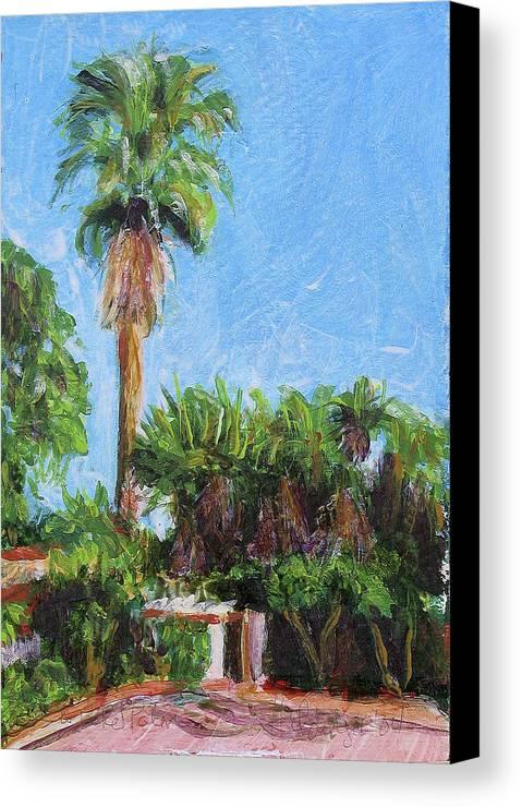 Landscape Canvas Print featuring the painting David Rd Palm by Deborah Hildinger