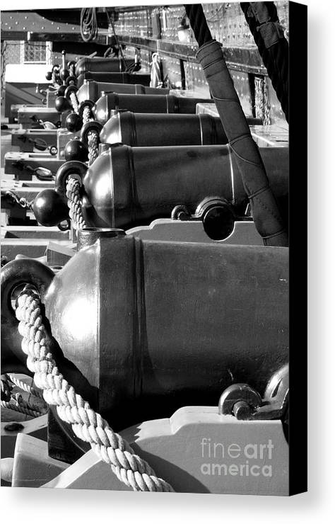 Cannon Canvas Print featuring the photograph Deck Guns by Mark Grayden