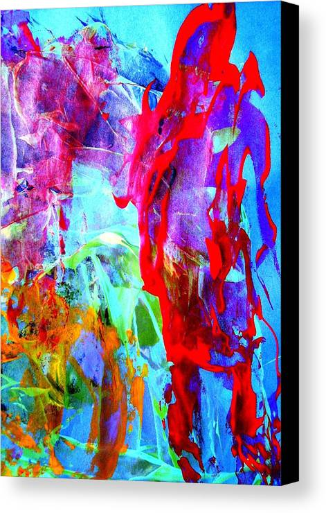 Abstract Canvas Print featuring the painting Dont Look Back by Bruce Combs - REACH BEYOND