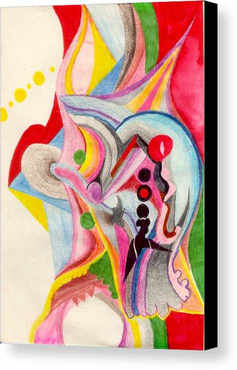 Abstract Canvas Print featuring the drawing Enthusiasm For Experimentation by Peter Shor