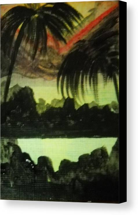 Landscape Canvas Print featuring the painting Escalation by Kelly Turner