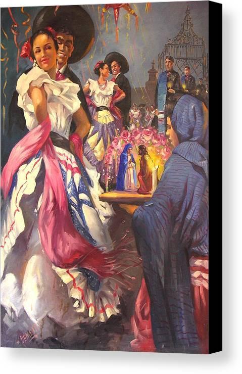 Fiesta Canvas Print featuring the painting Fiesta Tapatia by Demetrio