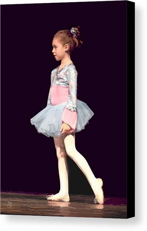 Child Ballerina. Canvas Print featuring the digital art First Recital by John Helgeson