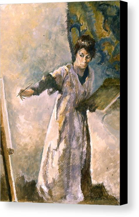 Painting Canvas Print featuring the painting Focus by Ellen Dreibelbis
