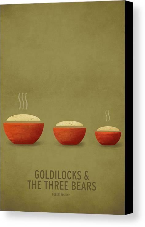 Stories Digital Art Canvas Print featuring the digital art Goldilocks And The Three Bears by Christian Jackson
