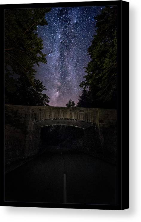 Maine Canvas Print featuring the photograph Goodnight Acadia by Robert Fawcett