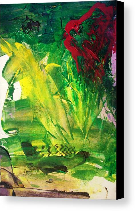 Hurricane Canvas Print featuring the painting Hurricane Katrina The Beginnings by Bruce Combs - REACH BEYOND
