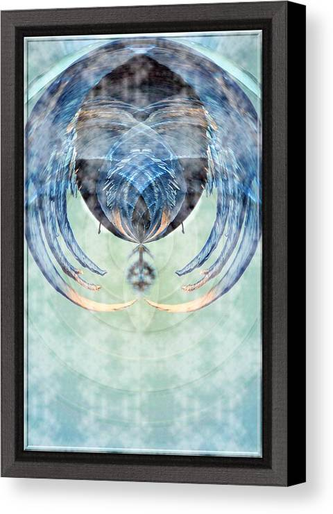 Ice Canvas Print featuring the photograph Ice Layered Effect And Framed by Karl Rose