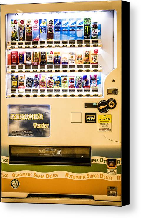 Vending Machine Canvas Print featuring the photograph Japan - Vending #4 by Chas Hauxby