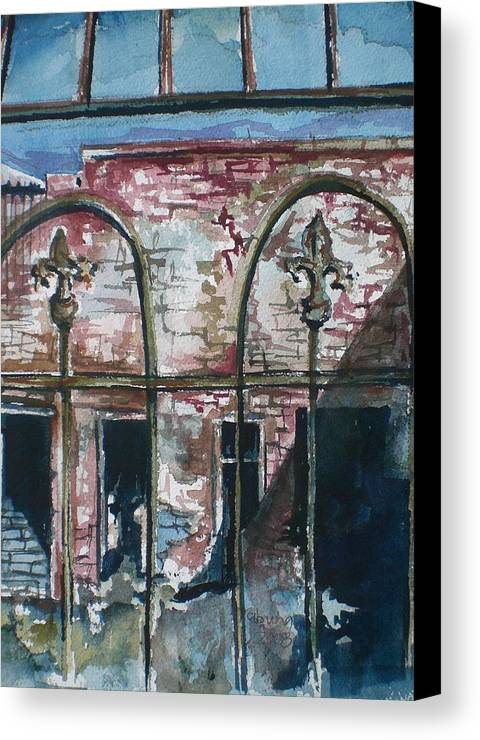 Jerome Canvas Print featuring the painting Jerome Ruins by Aleksandra Buha