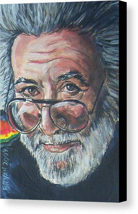 Jerry Garcia Canvas Print featuring the painting Jerry Garcia by Bryan Bustard