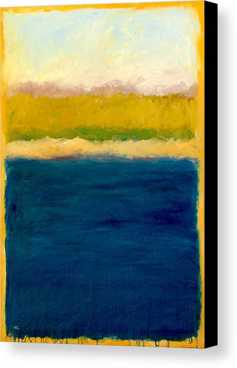 Dunes Canvas Print featuring the painting Lake Michigan Beach Abstracted by Michelle Calkins