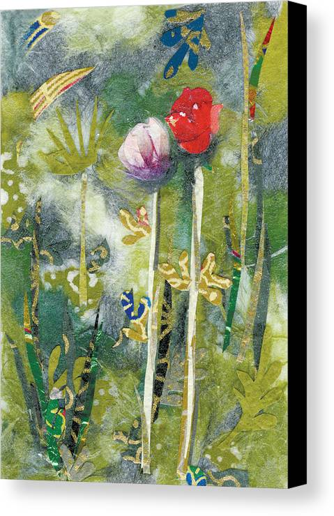 Pair Of Flowers Canvas Print featuring the painting Lovers by Nira Schwartz