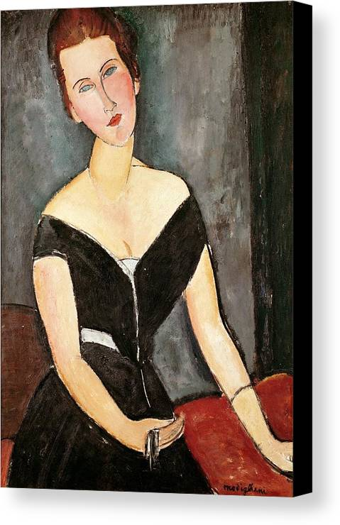 Madame Canvas Print featuring the painting Madame G Van Muyden by Amedeo Modigliani