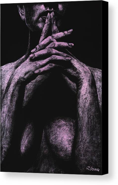Nude Canvas Print featuring the pastel Museful by Richard Young