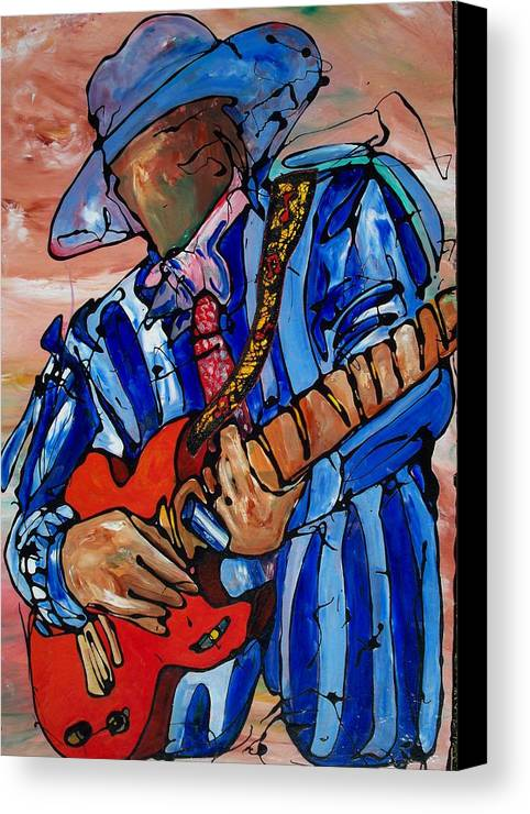 Music Canvas Print featuring the painting Nameless The Wailer by Ernie Scott- Dust Rising Studios