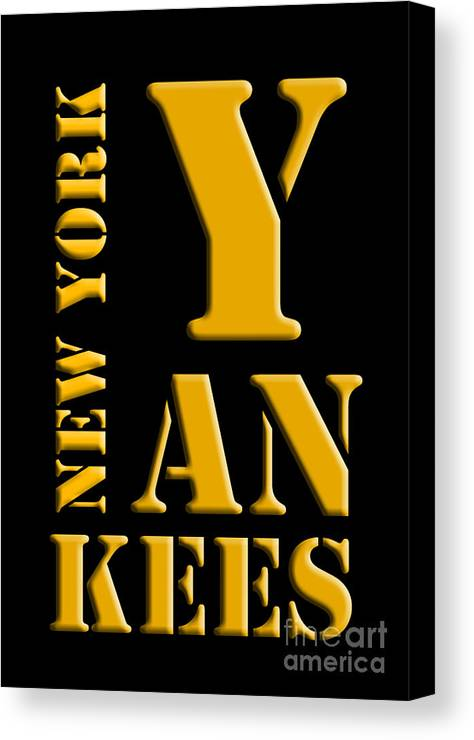 New York Yankees Black And Yellow Canvas Print / Canvas Art by Pablo ...