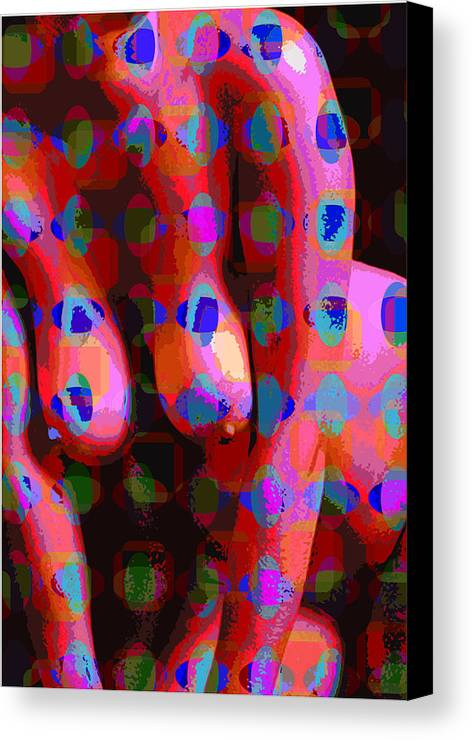 Nude Canvas Print featuring the digital art Nude 13 by Scott Davis